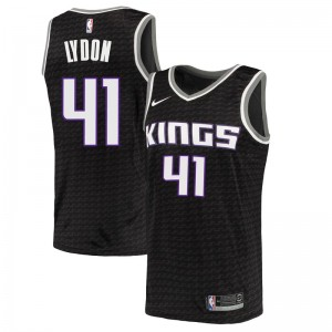 Nike Sacramento Kings Swingman Black Tyler Lydon Jersey - Statement Edition - Men's