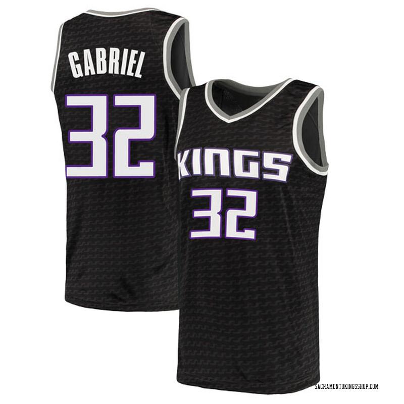 Nike Sacramento Kings Swingman Black Wenyen Gabriel Jersey - Statement Edition - Men's