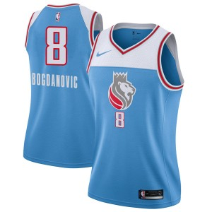 Nike Sacramento Kings Swingman Blue Bogdan Bogdanovic Jersey - City Edition - Women's