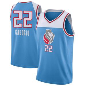 Nike Sacramento Kings Swingman Blue Bruno Caboclo Jersey - City Edition - Men's