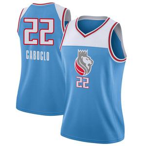 Nike Sacramento Kings Swingman Blue Bruno Caboclo Jersey - City Edition - Women's