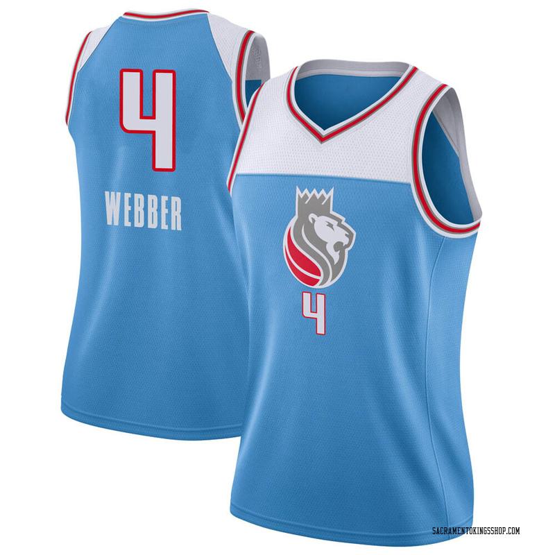 Nike Sacramento Kings Swingman Blue Chris Webber Jersey - City Edition - Women's