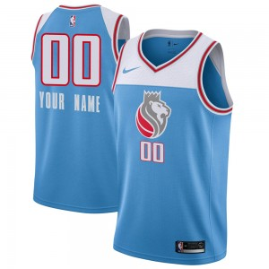 Nike Sacramento Kings Swingman Blue Custom Jersey - City Edition - Men's