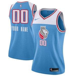 Nike Sacramento Kings Swingman Blue Custom Jersey - City Edition - Women's