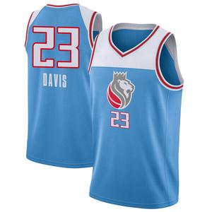 Nike Sacramento Kings Swingman Blue Deyonta Davis Jersey - City Edition - Men's