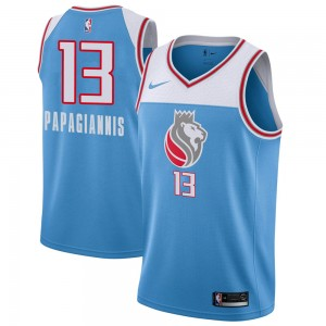 Nike Sacramento Kings Swingman Blue Georgios Papagiannis Jersey - City Edition - Men's