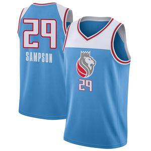 Nike Sacramento Kings Swingman Blue Jakarr Sampson Jersey - City Edition - Men's