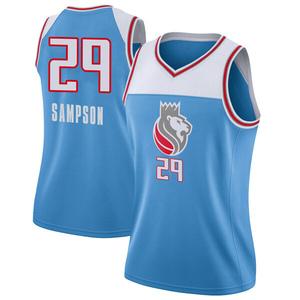 Nike Sacramento Kings Swingman Blue Jakarr Sampson Jersey - City Edition - Women's