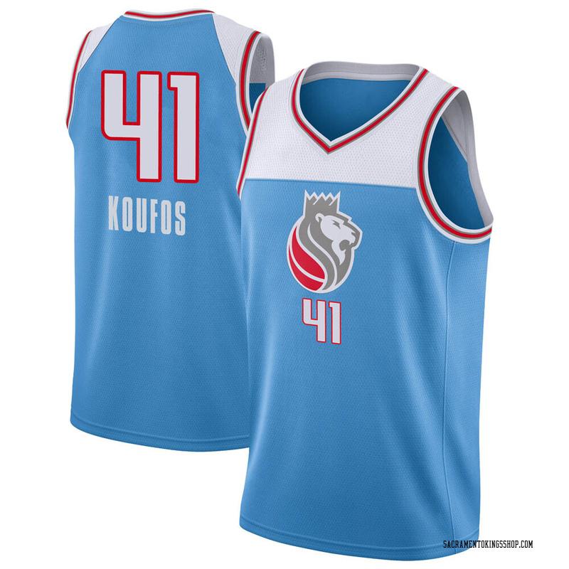 Nike Sacramento Kings Swingman Blue Kosta Koufos Jersey - City Edition - Youth