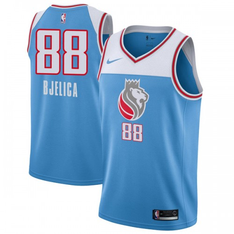 Nike Sacramento Kings Swingman Blue Nemanja Bjelica Jersey - City Edition - Men's