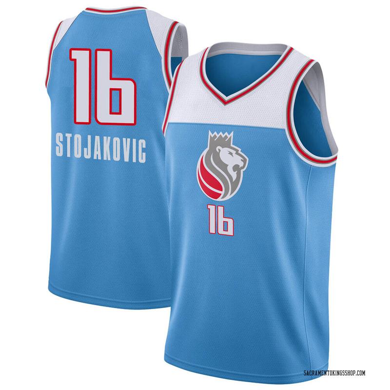 Nike Sacramento Kings Swingman Blue Peja Stojakovic Jersey - City Edition - Men's