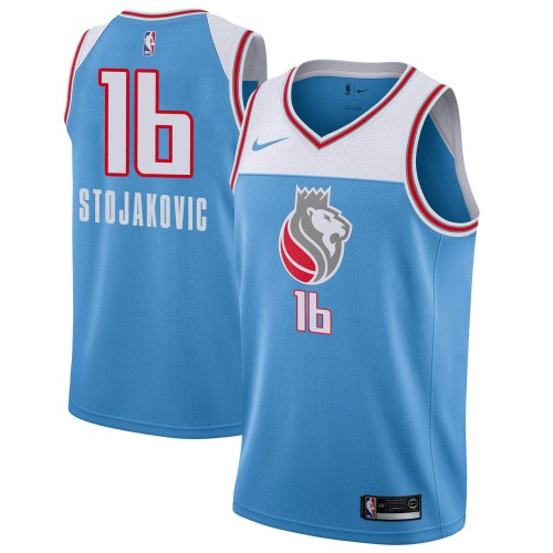 Nike Sacramento Kings Swingman Blue Peja Stojakovic Jersey - City Edition - Youth