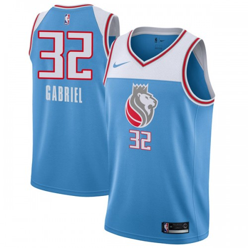Nike Sacramento Kings Swingman Blue Wenyen Gabriel Jersey - City Edition - Youth