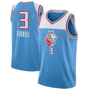 Nike Sacramento Kings Swingman Blue Yogi Ferrell Jersey - City Edition - Men's