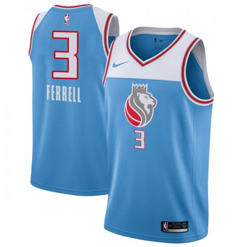 Nike Sacramento Kings Swingman Blue Yogi Ferrell Jersey - City Edition - Men's