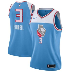 Nike Sacramento Kings Swingman Blue Yogi Ferrell Jersey - City Edition - Women's