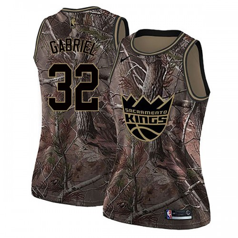 Nike Sacramento Kings Swingman Camo Wenyen Gabriel Realtree Collection Jersey - Women's