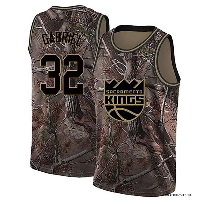 Nike Sacramento Kings Swingman Camo Wenyen Gabriel Realtree Collection Jersey - Youth