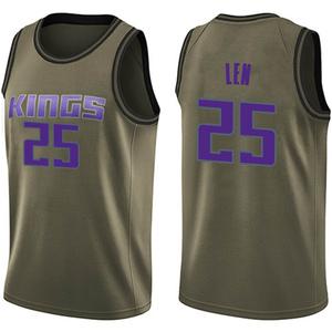 Nike Sacramento Kings Swingman Green Alex Len Salute to Service Jersey - Men's