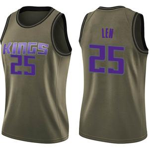Nike Sacramento Kings Swingman Green Alex Len Salute to Service Jersey - Women's