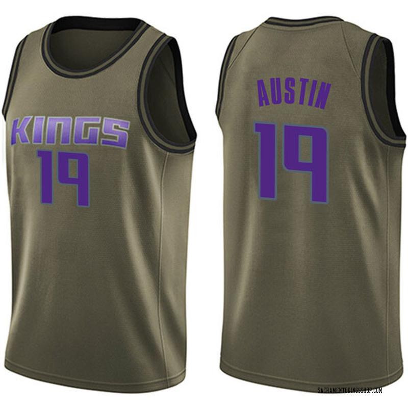 Nike Sacramento Kings Swingman Green Brandon Austin Salute to Service Jersey - Men's