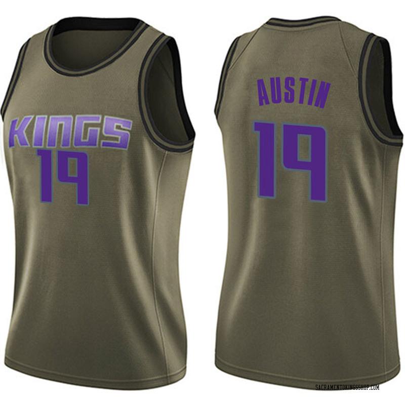 Nike Sacramento Kings Swingman Green Brandon Austin Salute to Service Jersey - Women's