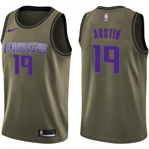 Nike Sacramento Kings Swingman Green Brandon Austin Salute to Service Jersey - Youth
