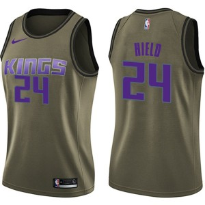 Nike Sacramento Kings Swingman Green Buddy Hield Salute to Service Jersey - Women's