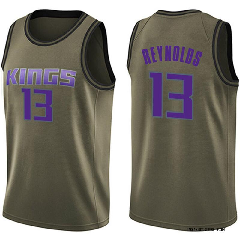 Nike Sacramento Kings Swingman Green Cameron Reynolds Salute to Service Jersey - Youth