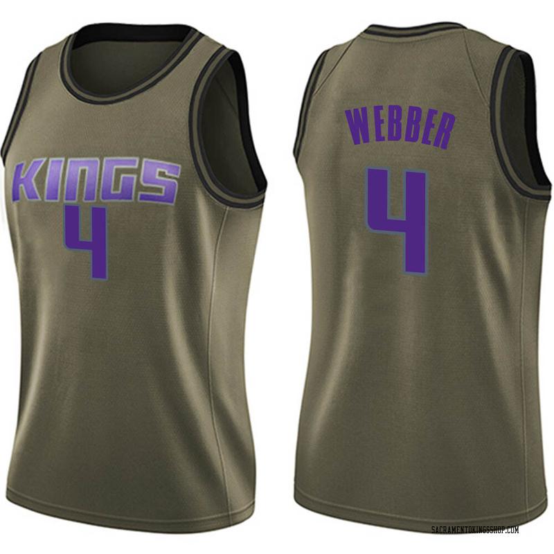 Nike Sacramento Kings Swingman Green Chris Webber Salute to Service Jersey - Women's