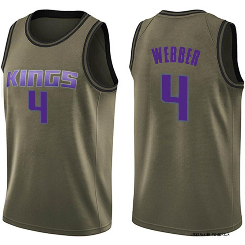 Nike Sacramento Kings Swingman Green Chris Webber Salute to Service Jersey - Youth