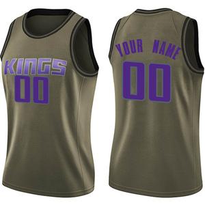 Nike Sacramento Kings Swingman Green Custom Salute to Service Jersey - Women's