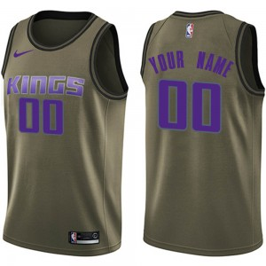 Nike Sacramento Kings Swingman Green Custom Salute to Service Jersey - Youth