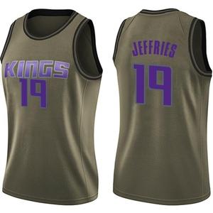 Nike Sacramento Kings Swingman Green DaQuan Jeffries Salute to Service Jersey - Women's