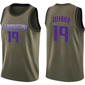Nike Sacramento Kings Swingman Green DaQuan Jeffries Salute to Service Jersey - Youth