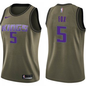 Nike Sacramento Kings Swingman Green Deaaron Fox Salute to Service Jersey - Women's