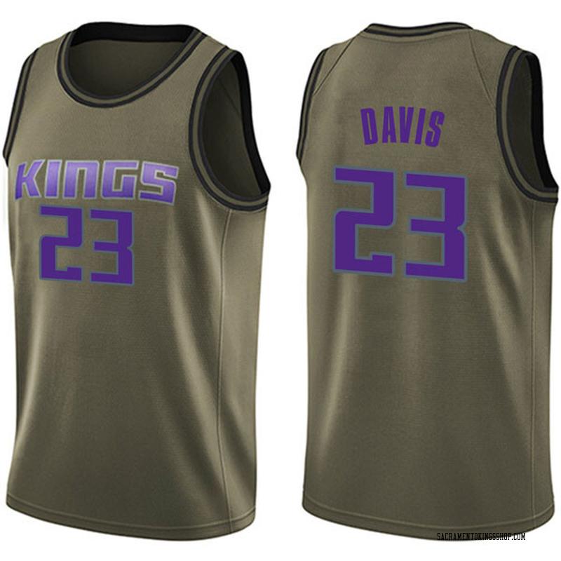 Nike Sacramento Kings Swingman Green Deyonta Davis Salute to Service Jersey - Men's