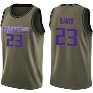 Nike Sacramento Kings Swingman Green Deyonta Davis Salute to Service Jersey - Youth