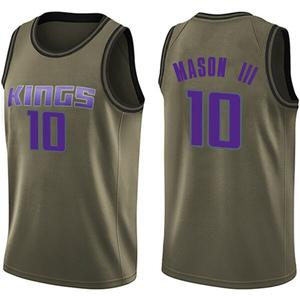 Nike Sacramento Kings Swingman Green Frank Mason III Salute to Service Jersey - Youth