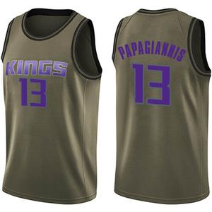 Nike Sacramento Kings Swingman Green Georgios Papagiannis Salute to Service Jersey - Men's