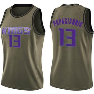 Nike Sacramento Kings Swingman Green Georgios Papagiannis Salute to Service Jersey - Women's