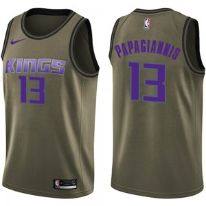 Nike Sacramento Kings Swingman Green Georgios Papagiannis Salute to Service Jersey - Youth