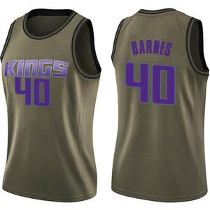 Nike Sacramento Kings Swingman Green Harrison Barnes Salute to Service Jersey - Women's