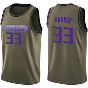 Nike Sacramento Kings Swingman Green Jabari Parker Salute to Service Jersey - Men's