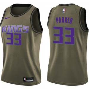 Nike Sacramento Kings Swingman Green Jabari Parker Salute to Service Jersey - Women's