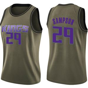 Nike Sacramento Kings Swingman Green Jakarr Sampson Salute to Service Jersey - Women's