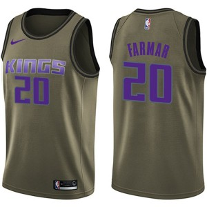 Nike Sacramento Kings Swingman Green Jordan Farmar Salute to Service Jersey - Youth