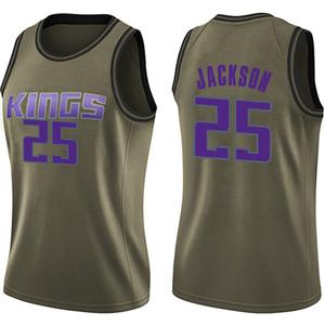 Nike Sacramento Kings Swingman Green Justin Jackson Salute to Service Jersey - Women's