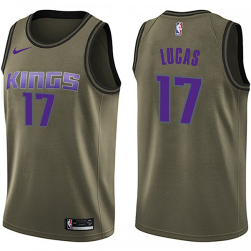 Nike Sacramento Kings Swingman Green Kalin Lucas Salute to Service Jersey - Men's