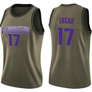 Nike Sacramento Kings Swingman Green Kalin Lucas Salute to Service Jersey - Women's